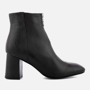 Rebecca Minkoff Women's Stefania Leather Heeled Ankle Boots - Black