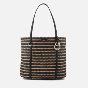 Lauren Ralph Lauren Women's Langdon Tote Bag - Natural/Black Stripe