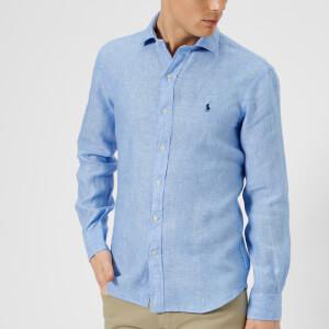 Polo Ralph Lauren Men's Long Sleeve Linen Shirt - Blue