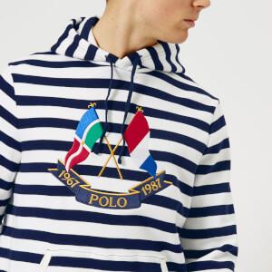 Polo Ralph Lauren Men's Cross Flags Stripe Hoody - Cruise Navy/White