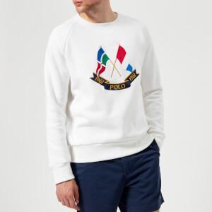 Polo Ralph Lauren Men's Cross Flags White Sweatshirt - White