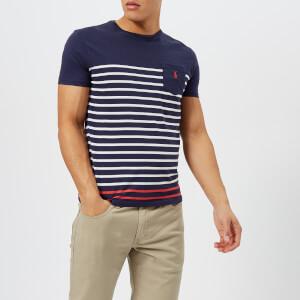 Polo Ralph Lauren Men's Striped Pocket T-Shirt - Newport Navy