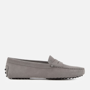 Tod's Women's Gommino Suede Driving Shoes - Light Grey