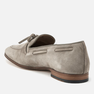 Tod's Men's Suede Lace Detail Mocassins - Beige: Image 2
