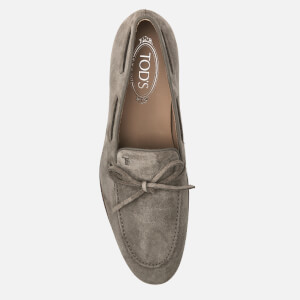Tod's Men's Suede Lace Detail Mocassins - Beige: Image 3