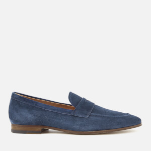 Tod's Men's Suede Slip On Mocassins - Navy