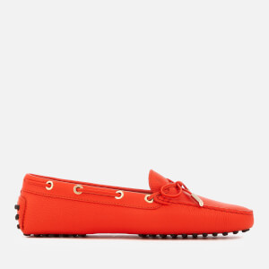 Tod's Women's Gommino Leather Driving Shoes - Orange