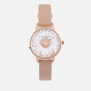 Olivia Burton Women's 3D Daisy Watch - Nude Peach/Rose Gold
