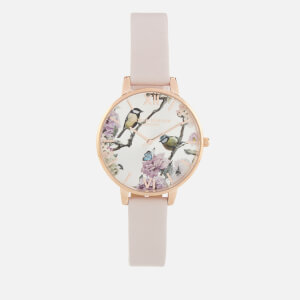 Olivia Burton Women's Pretty Blossom Birds Watch - Blossom & Rose Gold