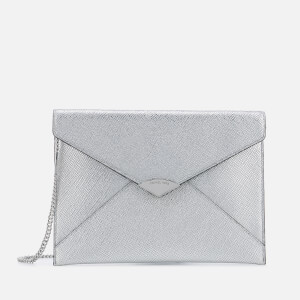 MICHAEL MICHAEL KORS Women's Large Soft Envelope Clutch Bag - Silver