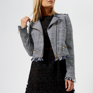 MICHAEL MICHAEL KORS Women's Tweed Jacket - True Navy