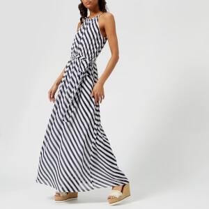MICHAEL MICHAEL KORS Women's Chain Neck Maxi Dress - True Navy/White