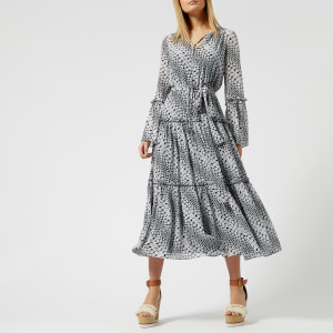 MICHAEL MICHAEL KORS Women's Tiered Boho Dress - Black/White