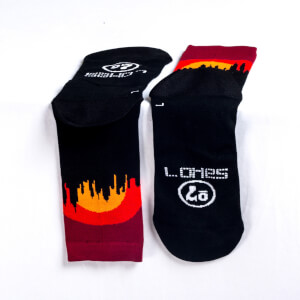 Sako7 New York Skyline Socks - Sunset