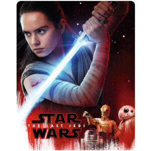 Star Wars: The Last Jedi 3D (Includes 2D Version) - Zavvi UK Exclusive Limited Edition Steelbook