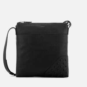 Tod's Men's Gommino Reporter Bag - Black