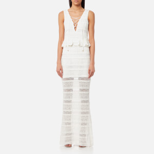 Foxiedox Women's Makayla Peplum Maxi Dress - Ivory