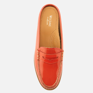 Bass Weejuns Women's Penny Slide Wheel Patent Leather Loafers - Orange: Image 3