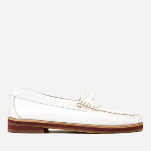 Bass Weejuns Women's Penny Wrinkle Textured Leather Loafers - White: Image 1