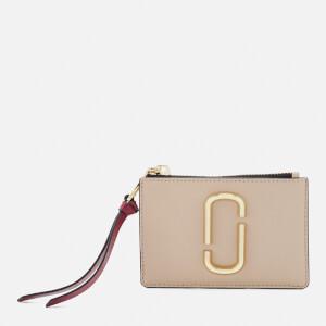 Marc Jacobs Women's Snapshot Top Zip Multi Wallet - Light Slate Multi