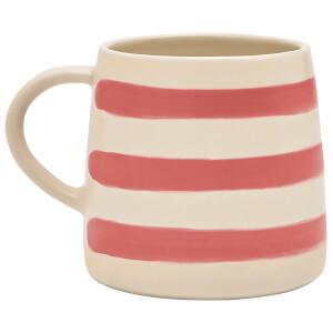 Joules Stoneware Single Mug - Red Stripe