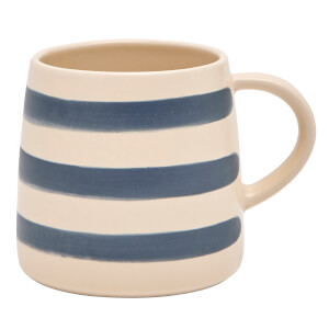 Joules Stoneware Single Mug - French Navy Stripe