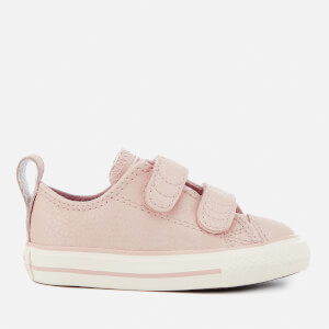Converse Toddlers' Chuck Taylor All Star 2V Ox Trainers - Particle Beige/Egret/Rose Gold