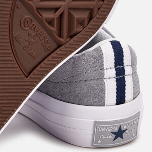 Converse Kids' One Star Ox Trainers - Wolf Grey/White/Navy: Image 4