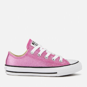 Converse Kids' Chuck Taylor All Star Ox Trainers - Bright Violet/Natural/White