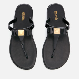 MICHAEL MICHAEL KORS Women's Caroline Jelly Toe Post Sandals - Black