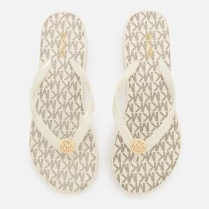 MICHAEL MICHAEL KORS Women's Bedford Stripe Flip Flops - Vanilla