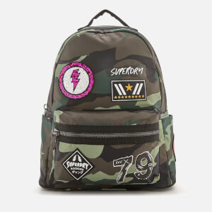 Superdry Women's Midi Punk Backpack - Patched Camo