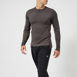 Asics Running Men's Long Sleeve Seamless Top - Dark Grey Heather