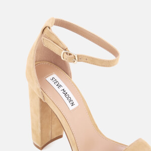 Steve Madden Women's Carrson Suede Barely There Heeled Sandals - Sand: Image 4