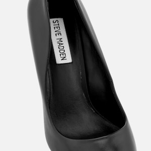 Steve Madden Women's Daisie Leather Court Shoes - Black: Image 4