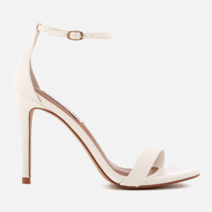 Steve Madden Women's Stecy Barely There Heeled Sandals - White