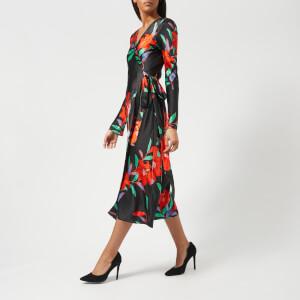 Diane von Furstenberg Women's Woven Wrap Dress - Argos Black