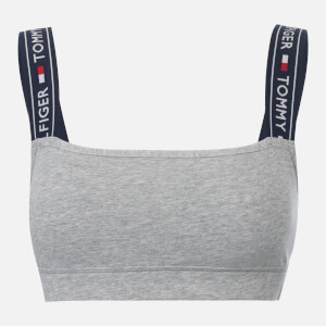 Tommy Hilfiger Women's Bralette with Logo Straps - Grey