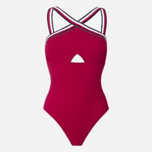 Tommy Hilfiger Women's One Piece Swimsuit - Red