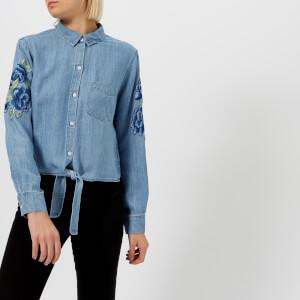 Rails Women's Val Shirt - Medium Vintage Floral Patch