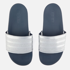 adidas Women's Adilette Explorer Slide Sandals - Collegiate Navy