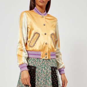 Coach 1941 Women's Satin Varsity Jacket - Dirty Gold
