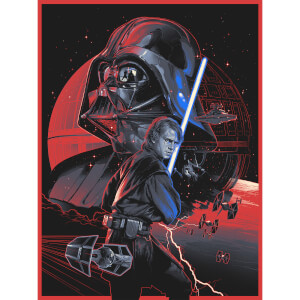 "Star Wars: Revenge Of The Sith ""Anakin's Path"" Silkscreen Print By Gabz (18"" x 24"") Zavvi UK Exclusive Timed Sale"