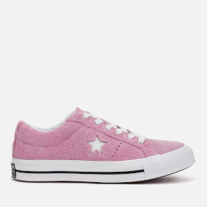 Converse One Star Ox Trainers - Light Orchid/White/Black