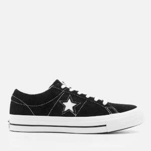 Converse One Star Ox Trainers - Black/White/White