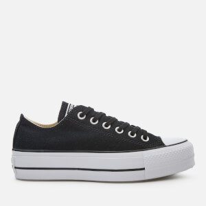 Converse Women's Chuck Taylor All Star Lift Ox Trainers - Black/White