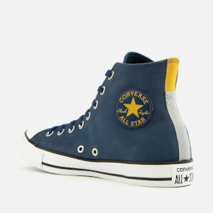 Converse Men's Chuck Taylor All Star Hi-Top Trainers - Navy/Black/White: Image 2