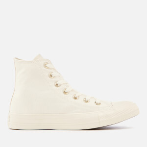 Converse Women's Chuck Taylor All Star Hi-Top Trainers - Egret/Gold