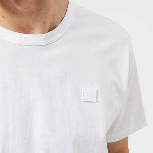 Acne Studios Men's Nash Face Logo Crew Neck T-Shirt - Optic White: Image 4