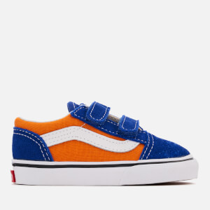 Vans Toddlers' Pop Velcro Old Skool Trainers - Og Blue/Og Gold